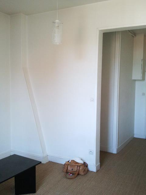 Un petit appartement 2 pièces complètement rénové et transformé en appartement haussmannien. Le séjour sans cachet. One bedroom flat makeover