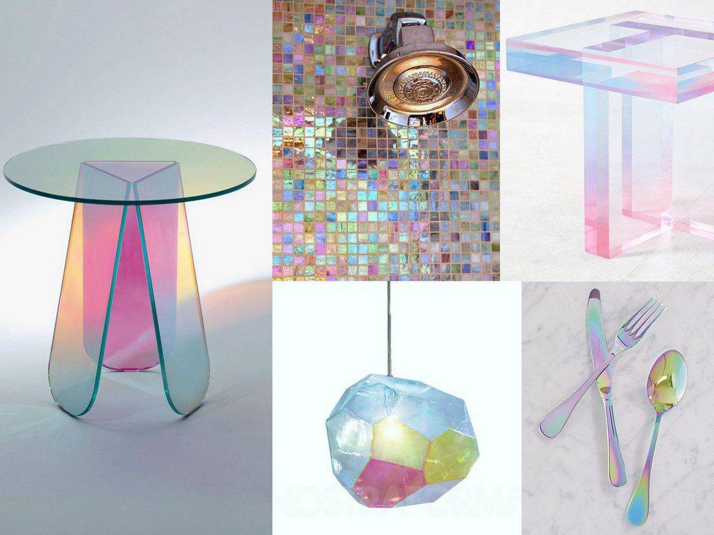 tendances déco 2020 : les matériaux iridescents