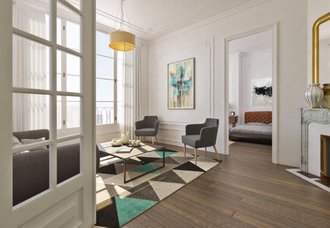 Projet n°8 : Plans d'aménagement pour la rénovation d'un appartement haussmannien