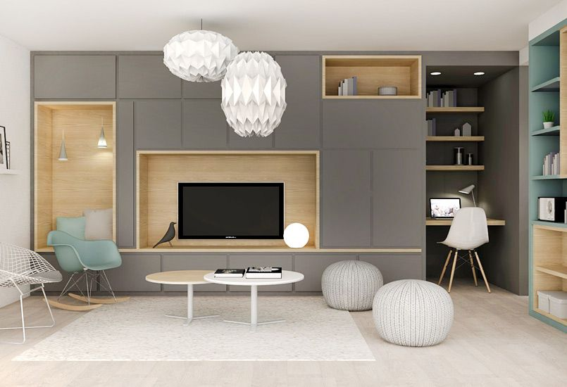 custom made storage is ideal to optimize the space in your home