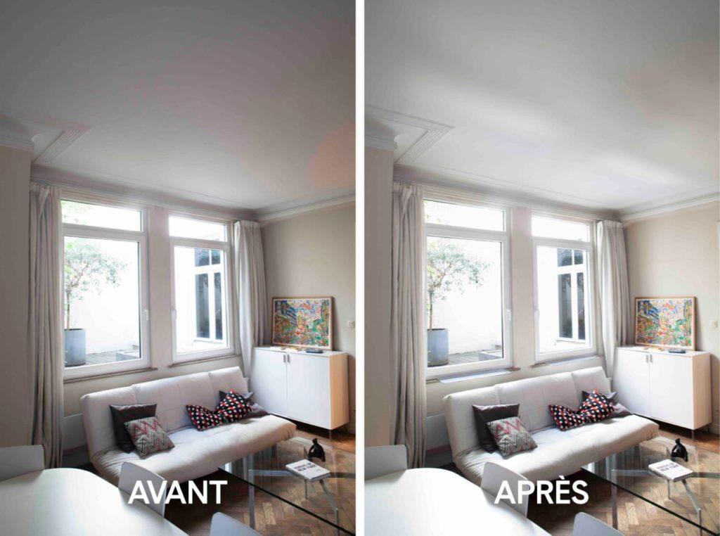 Pour apporter plus de lumière à une pièce sombre, installer des réflecteurs de lumière peut etre une option intéressante - ici, reflecteur espaciel.