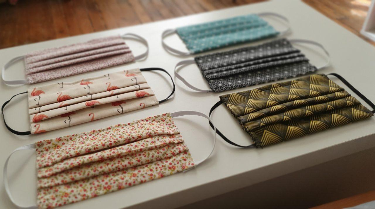 Inside my home - Masques 3 plis en tissu lavable Afnor - Joli design